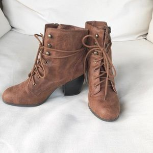 Chestnut Heeled Ankle Booties